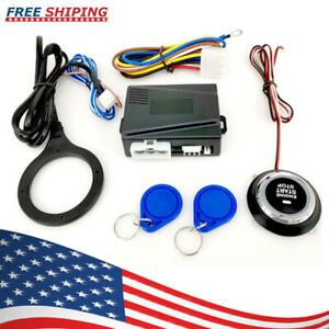 Car Ignition Switch Rfid Engine Start Push Button Keyless Entry Starter Kit Z0g9
