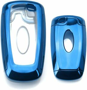 Blue Tpu Key Fob Protective Case For 17 up Ford Edge Fusion 18 up Mustang F 150