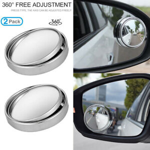 Car Blind Spot Side View Rearview Mirror Round Stick On Latest Wide Angle Convex