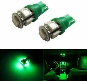 5 smd 168 194 2825 T10 Led Car Interior Map Dome Light Bulbs Emerald Green