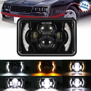 For Chevrolet S10 1995 1996 1997 120w 4x6 Led Headlight Projector Beam With Drl
