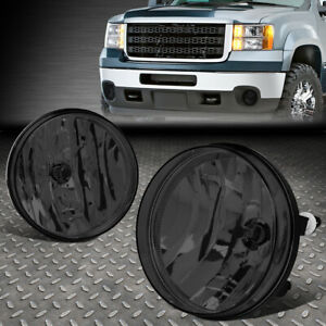 For 07 14 Gmc Sierra 1500 2500hd 3500hd Smoked Lens Front Driving Fog Light Lamp