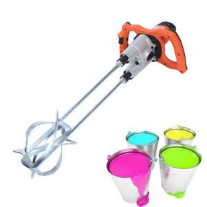 1800w Portable Electric Mortar Mixer Cement Concrete Plaster Grout Paddle Drills