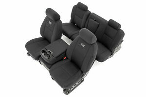 Rough Country Neoprene F R Seat Covers For 07 13 Chevy Silverado 1500 11 13 2500
