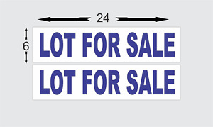 Lot For Sale Blue 6 x24 Real Estate Rider Signs Buy 1 Get 1 Free 2 Sided