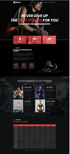 Elementor Template Gym Fitness Template