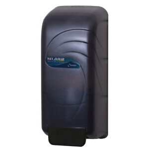 San Jamar S890tbk Black Wall Mounted Soap Dispenser