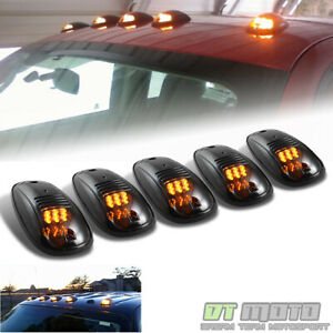 5pcs Pickup Truck Suv Smoked Lens Roof Cab Parking Running Full Led Lights Lamps