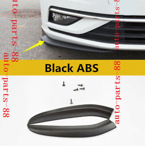 2x Black Abs Front Bumper Lip Spoiler Cover Trim Fit For Vw Golf Mk7 5 2018 2019
