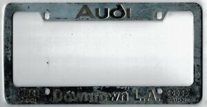 Los Angeles California Downtown L a Audi Vintage Dealer License Plate Frame