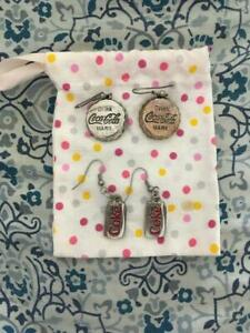 2 pairs of Coca Cola earrings (lightly used)