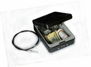Helix Deluxe Personal Locking Safe With Tether Heavy duty Steel Construction