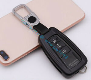 Biack Aluminum Car Remote Key Protecter Cover For Toyota Highlander 2015 2019