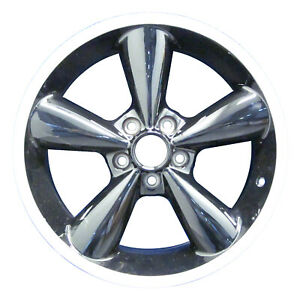 03648 Refinished Ford Mustang 2006 2009 18 Wheel Rim Machined Lip W black Spokes