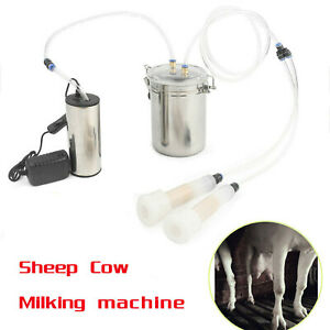 2l Portable Electric Milking Machine Vacuum Pump For Farm Cow Sheep Goat Milking