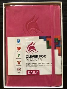 Clever Fox Planner Non dated Daily Planner Hot Pink