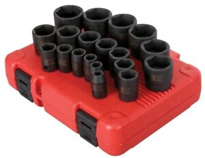Sunex 19pc 1 2 Sae 6pt Point Impact Sockets Set Tools Drive Standard Inch 2640