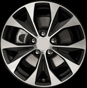 64025 Refinished Honda Civic 2012 2013 17 Inch Wheel Rim Machined Black