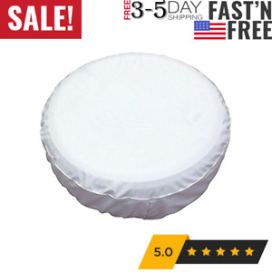 Healink Spare Tire Covers 15 Inch Pvc Leather White Wheel Tire Cover Rim For Rv