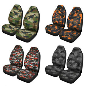 Universal Camouflage Auto Front Seat Covers For Car Suv Trucks Protector Mats