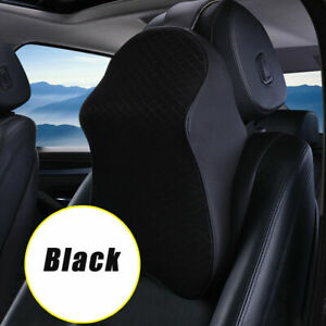 Car Seat Headrest Pad Head Neck Rest Support Cushion Memory Foam Pillow Black
