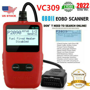 Vc309 Code Reader Obd2 Scanner Obdii Universal Car Fault Engine Diagnostic Tool