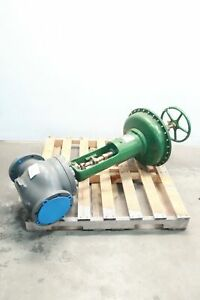 Fisher F7 657 Manual Iron Flanged Control Valve 6in 125