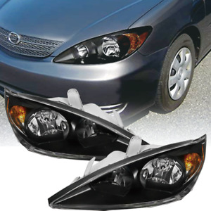 Fit For 2002 2004 Toyota Camry Reflector Black Housing Lamps Headlights