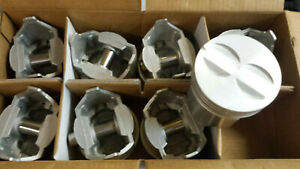 327 Chevy Flat Top Pistons Cast Set Of 8 Standard Bore
