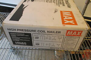 Max Hn65 Powerlite Sider High Pressure Pneumatic Siding decking Coil Nailer New
