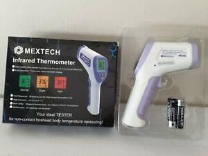 Mextech Non contact Infrared Forehead Thermometer Lcd Laser New