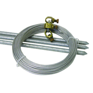 Field Guardian 3ft Farm Grounding Kit Electric Horse Fence Rod Steel Ground Wire