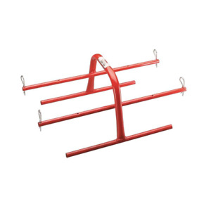 Durable Steel Electrical Wire Spool Hand Caddy Storage Organization Holder Red