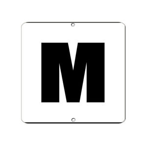 Square Metal Sign Multiple Sizes Letter M Activity Pool Tile Messages Swimming