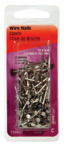 Hillman 17 Ga X 3 4 In L Stainless Steel Wire Nails 1 Pk 2 Oz