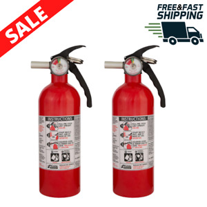 2 Pack Fire Extinguisher Home Safety Emergency Kit Multipurpose Dry Chemical B c