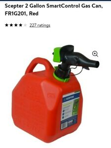 New Gas Can Scepter 2 Gallon Smart Control great Can