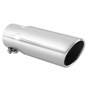 Car Exhaust Tip 2 5 Inlet Stainless Steel Muffler Pipe Bolt On Design 3 Od