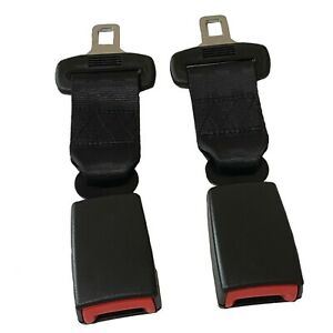 2pcs 9 Car Seat Belt Extension Extender Black Buckle Car Adjustable