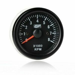 2 Inch 52mm Electrical Tachometer Gauge For 0 8 X1000 Rpm Led Display Universal
