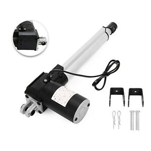 8 6000n Electric Linear Actuator 1320 Pound Max Lift Heavy Duty 12v Dc Motor