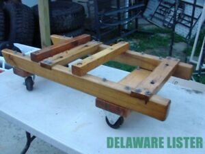 heavy Duty Hit Miss Stationary Engine Motor Wooden Stand Cart On Wheels