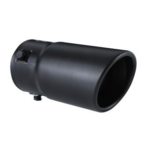 Car Exhaust Tip Muffler Pipe Black Coating Stainless Steel Fit 1 75 2 5 Inch