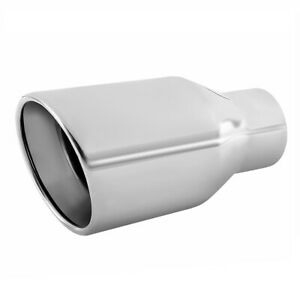 Double Wall Exhaust Tip Stainless Steel Muffler Pipe Weld On 2 5 Idx 4 Odx 7 5 L