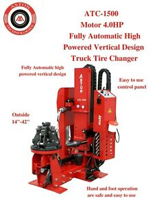 4 0 Hp Truck Tire Changer Fully Automatic Vertical Designed 14 42 Tire Max63