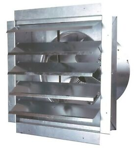 Maxxair 14 Industrial Vent Exhaust Fan Heavy Duty Wall Mounted 1400 Cfm
