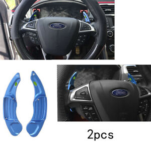 For Ford Mondeo Fusion 13 20 Steering Wheel Shift Paddle Extension Aluminum Blue