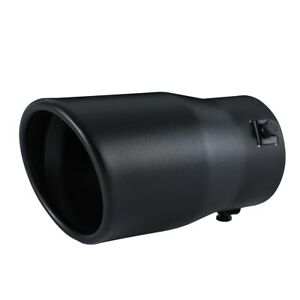 Car Exhaust Tip Muffler Pipe Black Coating Stainless Steel Fit 2 2 75 Inch