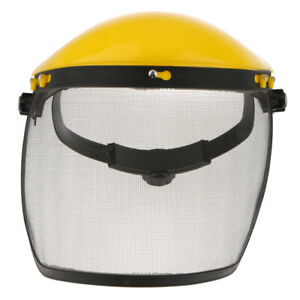 Safety Face Shield With Mesh Visor For Chainsaw Trimmer Pole Pruner Sawing