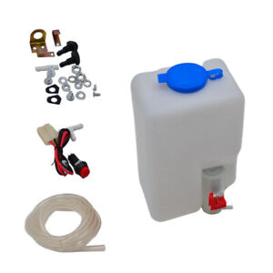 Universal Car Windshield Washer Pump Washer Tank Kit Washer System With Pump Jet